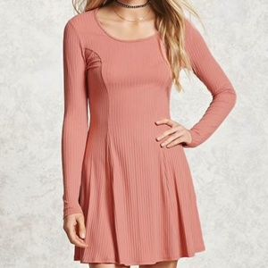 Forever 21 Blush ribbed swing dress